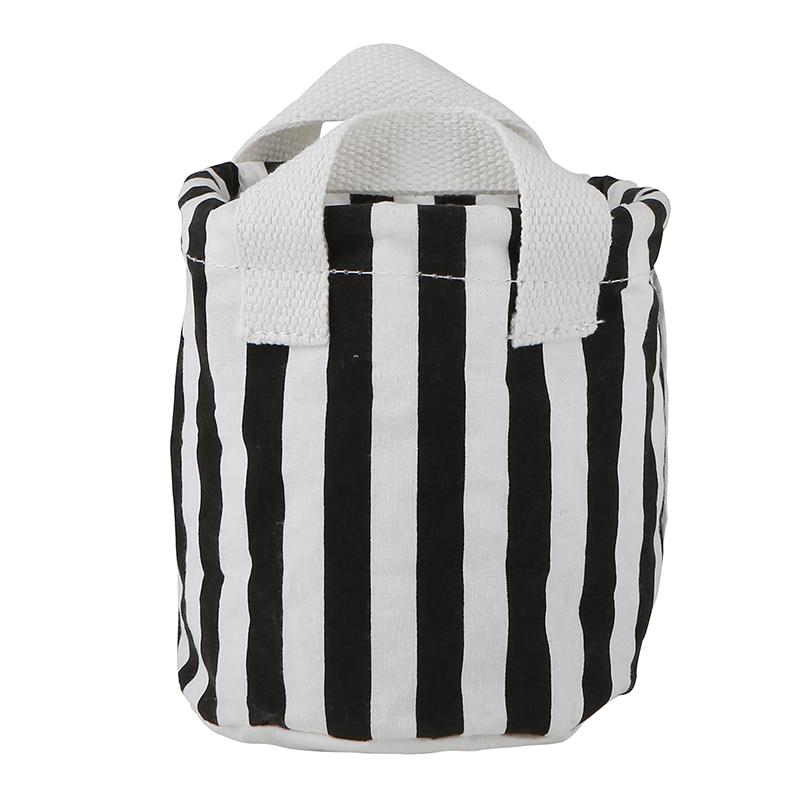 Small Canvas Organizers - Black + White Stripe