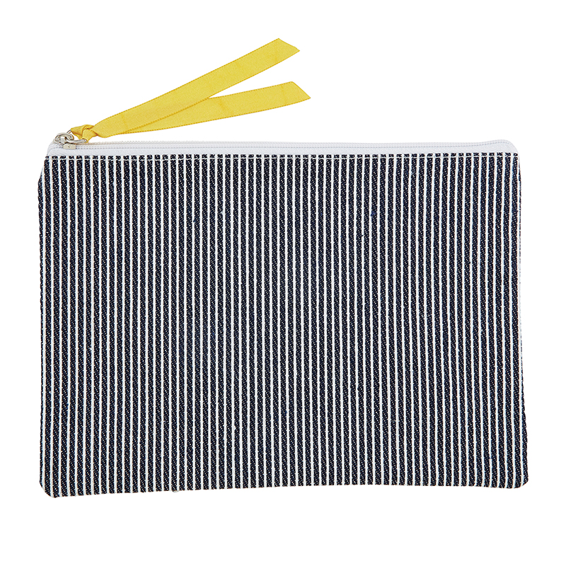 Canvas Pouch - Denim Stripe