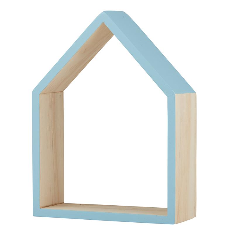 Wood Shelf - Blue House