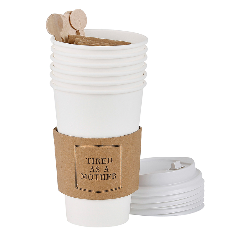 Face to Face Paper Cup Set of 6 - Tired As A Mother