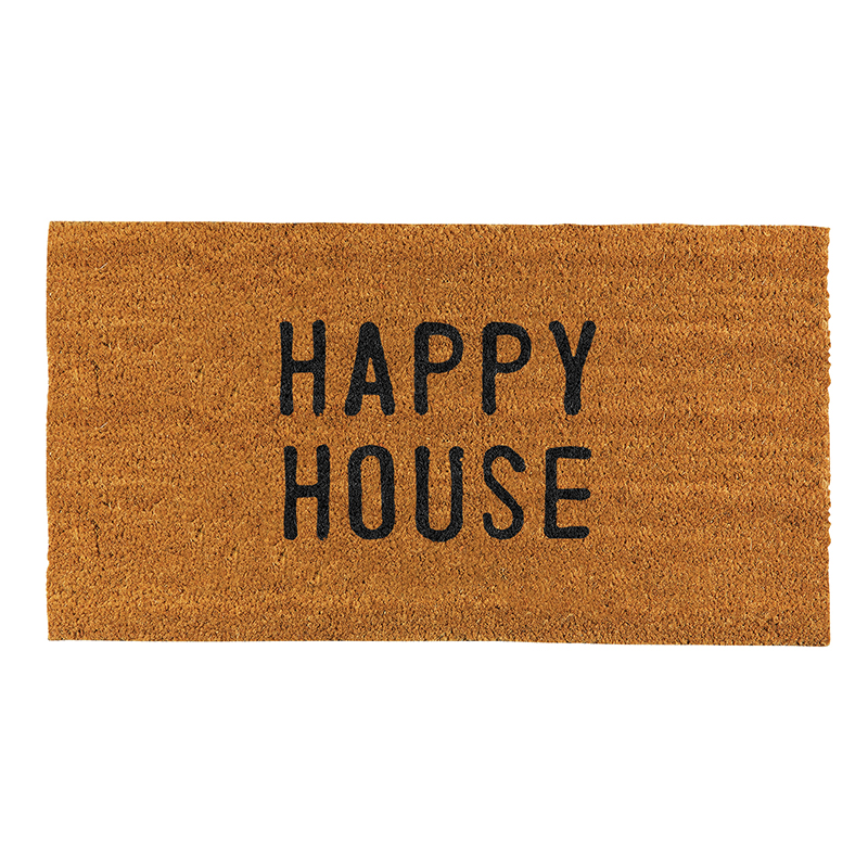 Face to Face Door Mat - Happy House