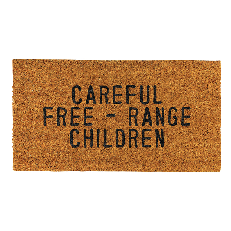 Face to Face Door Mat - Careful Free - Range Children