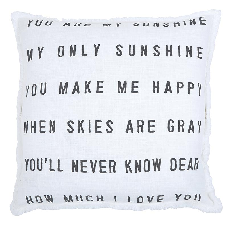 Face to Face Square Sofa Pillow - You Are My Sunshine