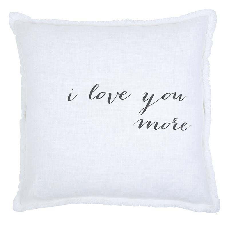 Face to Face Square  Sofa Pillow - I Love You More