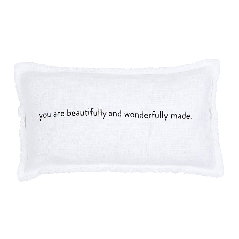 Face to Face Rectangle Sofa Pillow - You Are Beautifully And Wonderfully Made