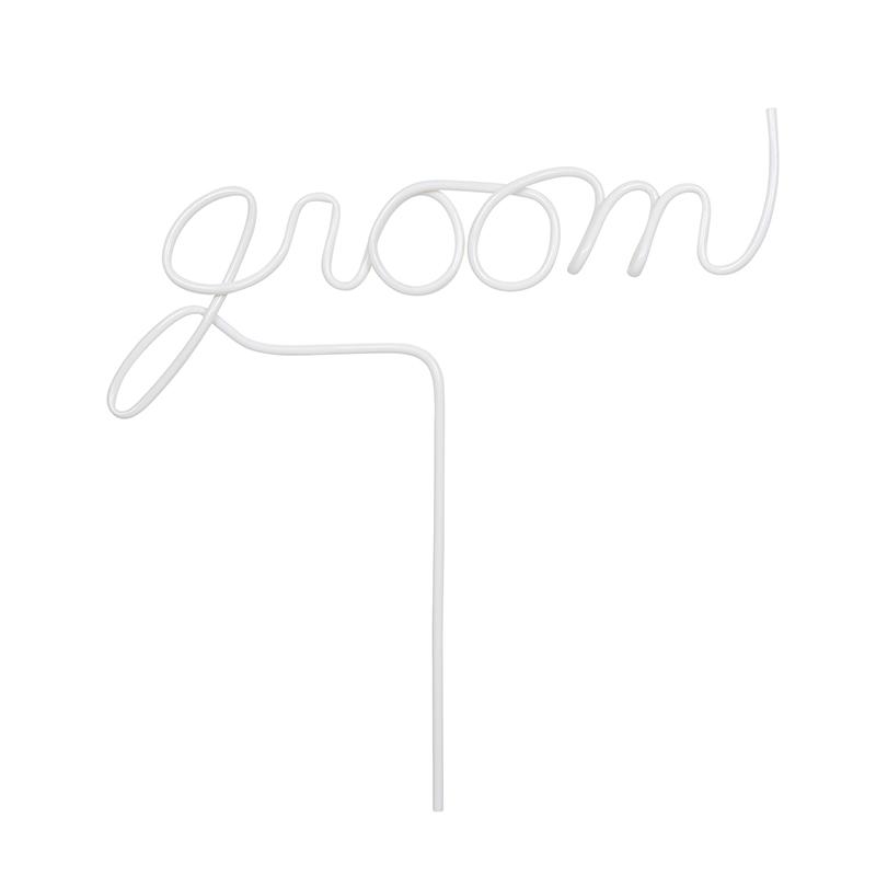 Word Straw - Groom