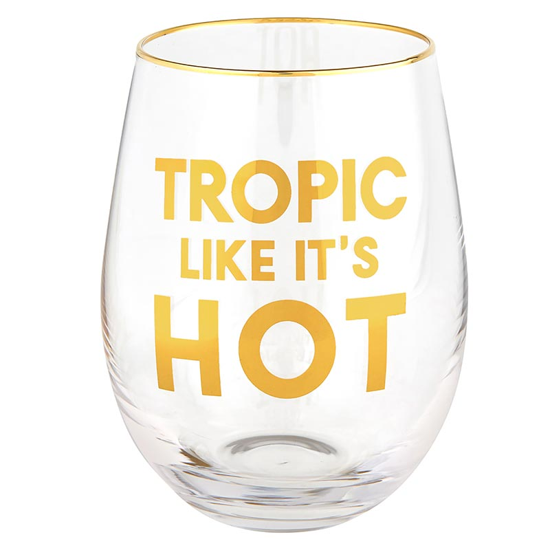 Wine Glass - Tropic Like It's Hot