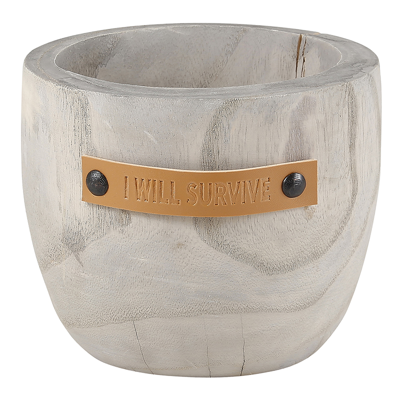 Wood Planter - I Will Survive