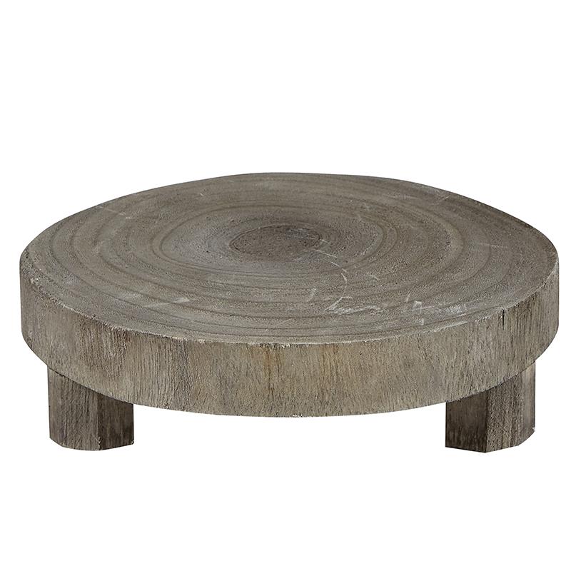 Small Wood Riser - Grey Paulownia Wood