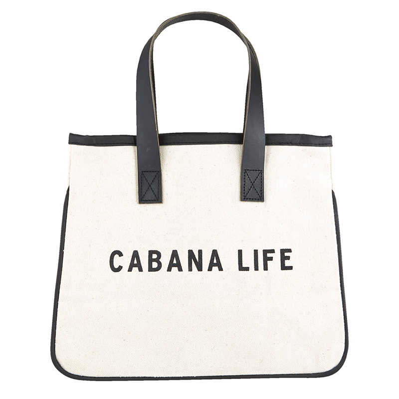 Mini Canvas Tote - Cabana