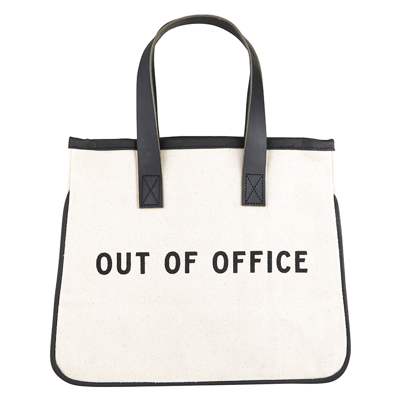 Mini Canvas Tote - Office