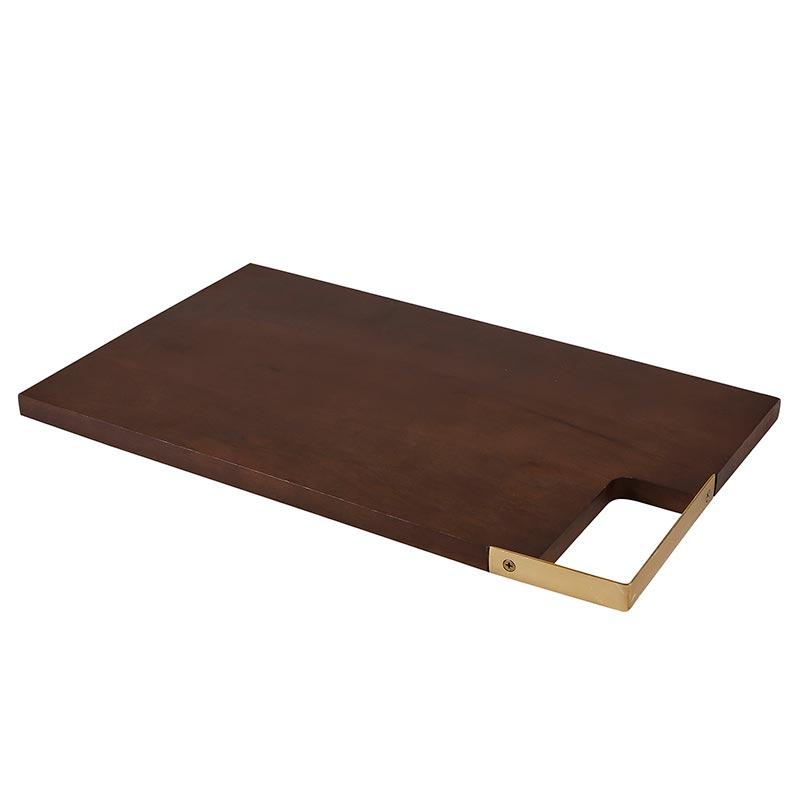 """Wood + Brass Board - 18"""""""