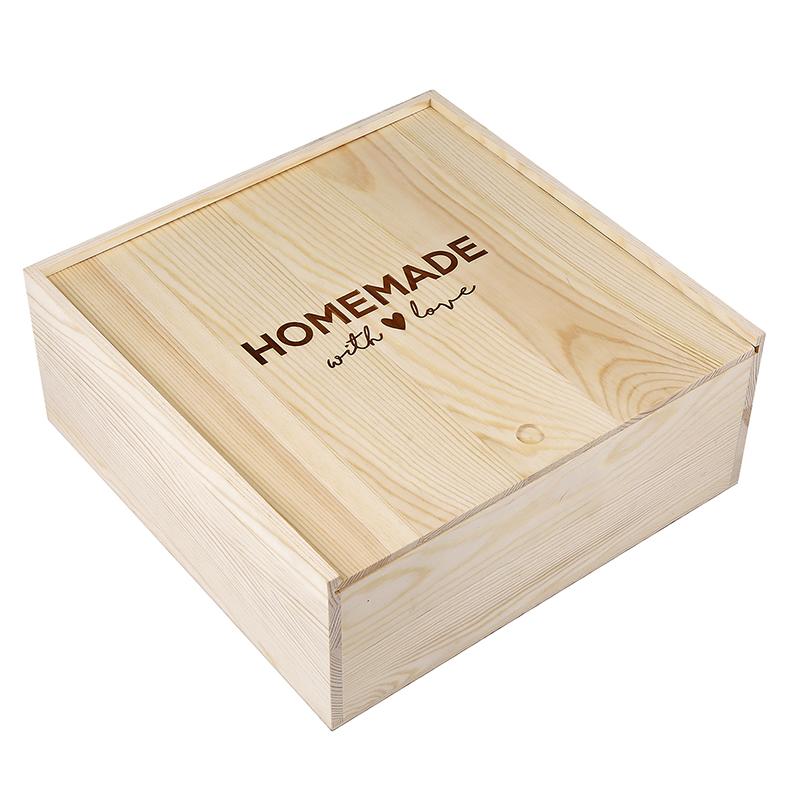 Large Sweets Wood Box - Homemade
