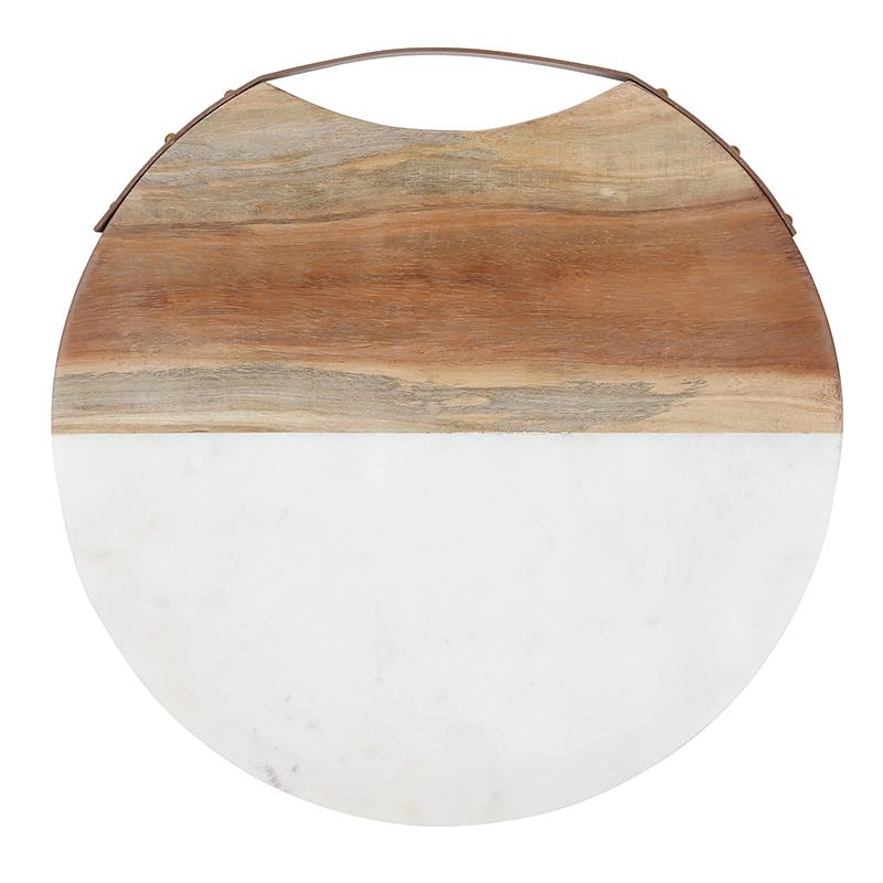 Acacia Wood and Marble Cheese Board
