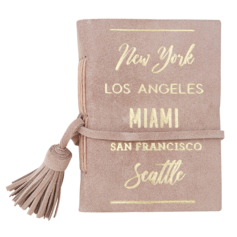 Suede Leather Notebook - City List