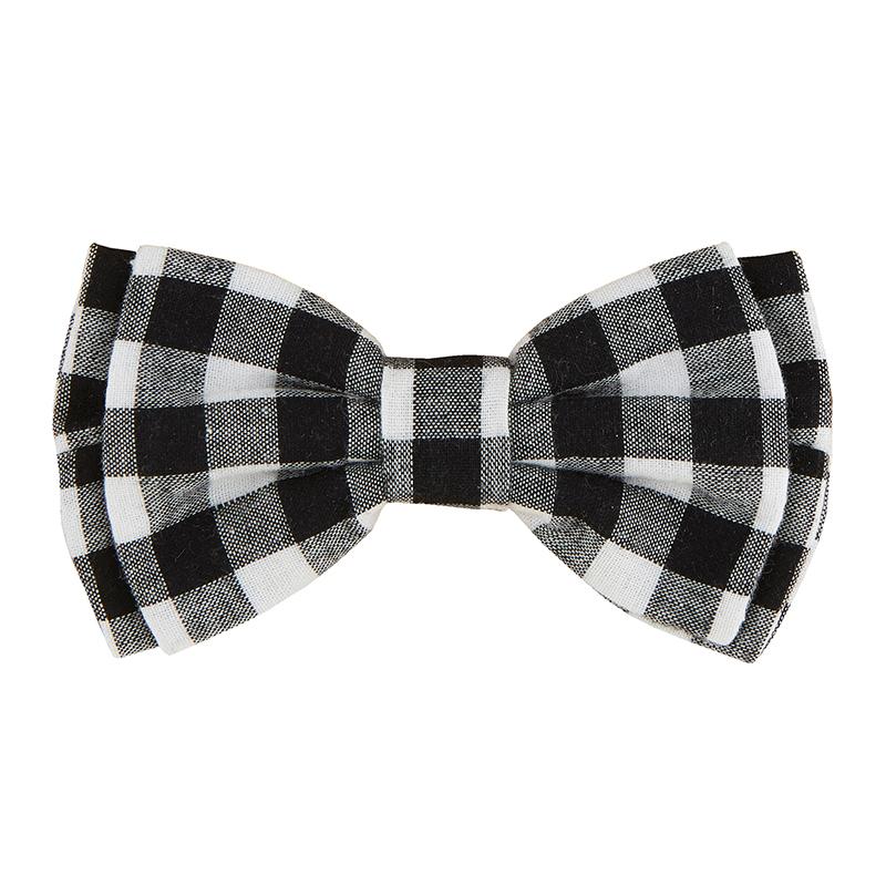 Pet Bow Ties - Black Buffalo Check