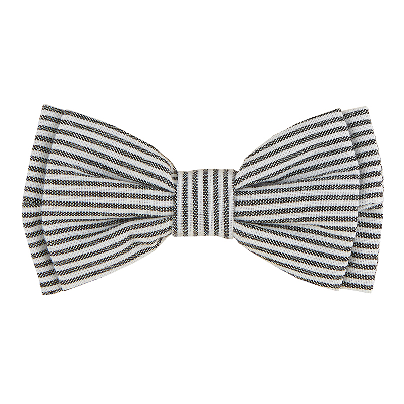 Pet Bow Ties - Grey Stripe