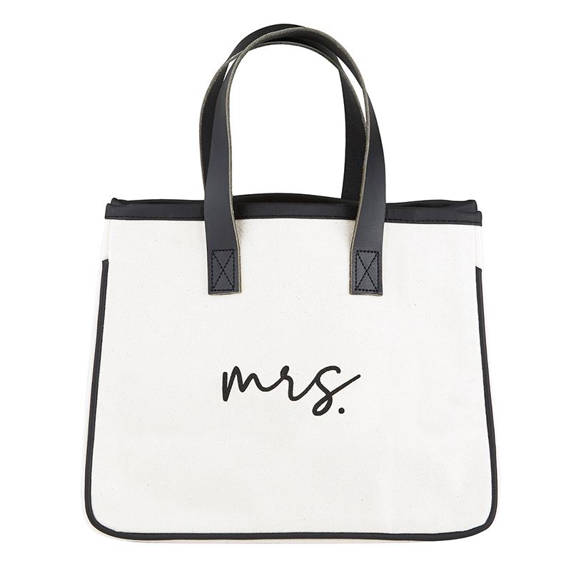 Mini Canvas Tote - Mrs.
