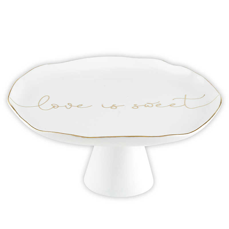 Ceramic Cake Stand - Love Is Sweet