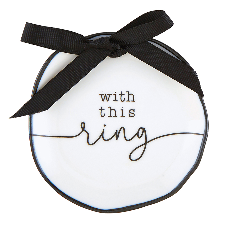 Ring Bearer Dish - With This Ring
