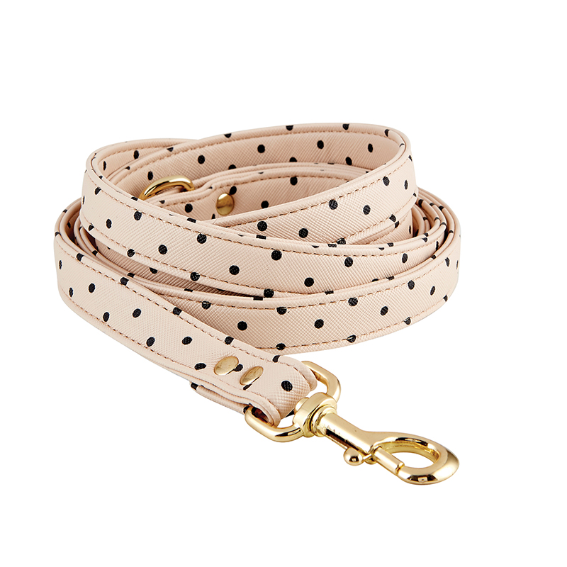Saffiano Leash - Blush