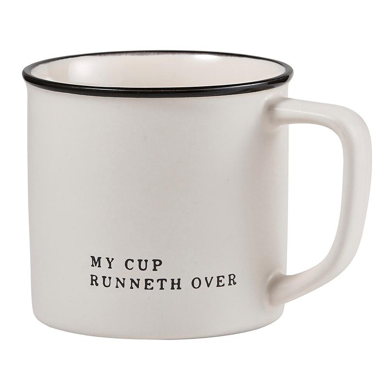 Face to Face Coffee Mug - My Cup Runneth Over