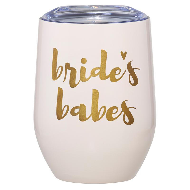 12oz Wine Tumbler - Bride's Babes