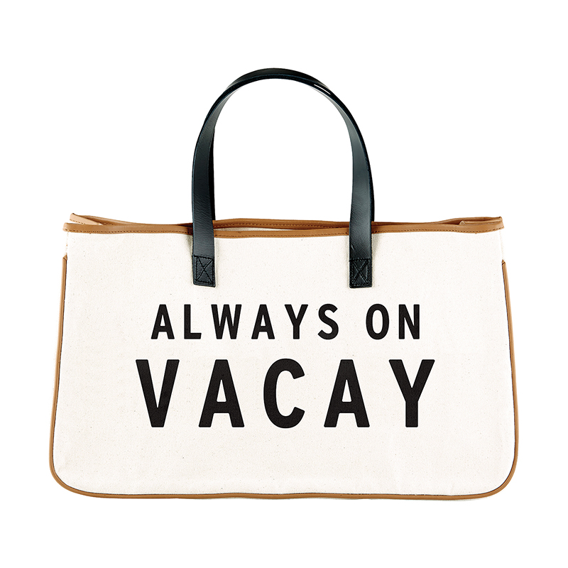 Canvas Tote - Always on Vacay