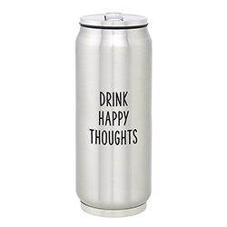 Large Stainless Steel Can - Happy Thoughts