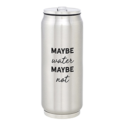 Large Stainless Steel Can - Maybe Water