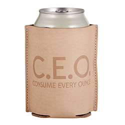 Leather Coozie - C.E.O
