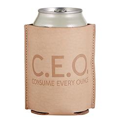 Leather Coozie - C.E.O