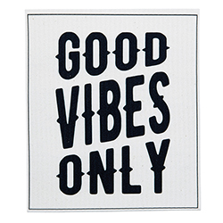 Organic Dishcloth -  Good Vibes