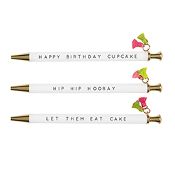 Tassel Pen - Cupcake Birthday