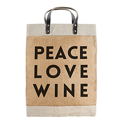 Farmer's Market Tote -  Peace Love Wine
