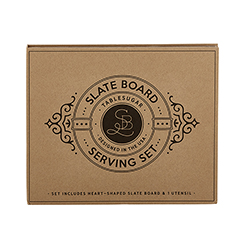 Cardboard Book Set -Slate Board Serving Set