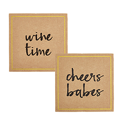 Cardboard Coasters - Cheers Assortment