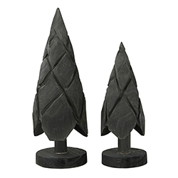 Paulownia Trees - Black - Set of 2