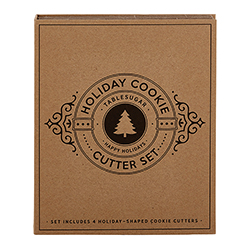 Cardboard Book Set - Holiday Cookie Cutters