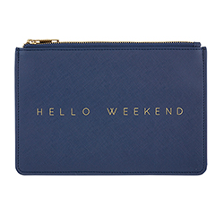 Fashion Pouch - Hello Weekend - Navy