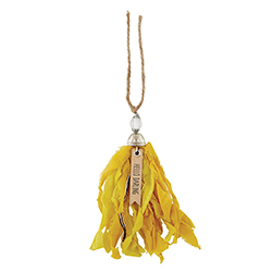 Tassel Tag- Hello Darling - Yellow