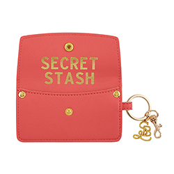 Credit Card Pouch - Secret Stash - Coral