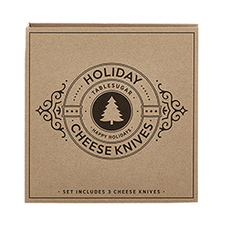 Cardboard Book Set - Holiday Cheese Knives