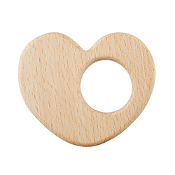 Heirloomed Wood Teether - Heart