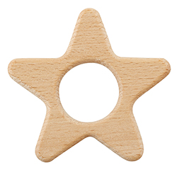 Heirloomed Wood Teether - Star