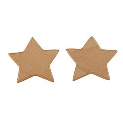 Wood Hooks - Star 2 Pack