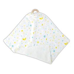 Mini Swaddle w/ Ring - Star + Moon