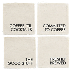 Canvas Coaster Set - Coffee