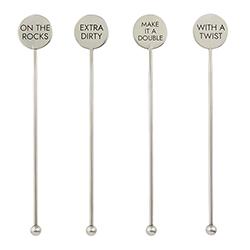 Stainless Steel Stir Sticks - Cocktails