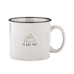 Campfire Mug - Grey - I'd Hike That